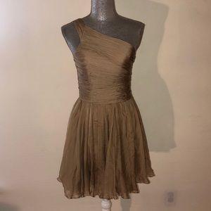 NWT Halston heritage one shoulder gathered dress